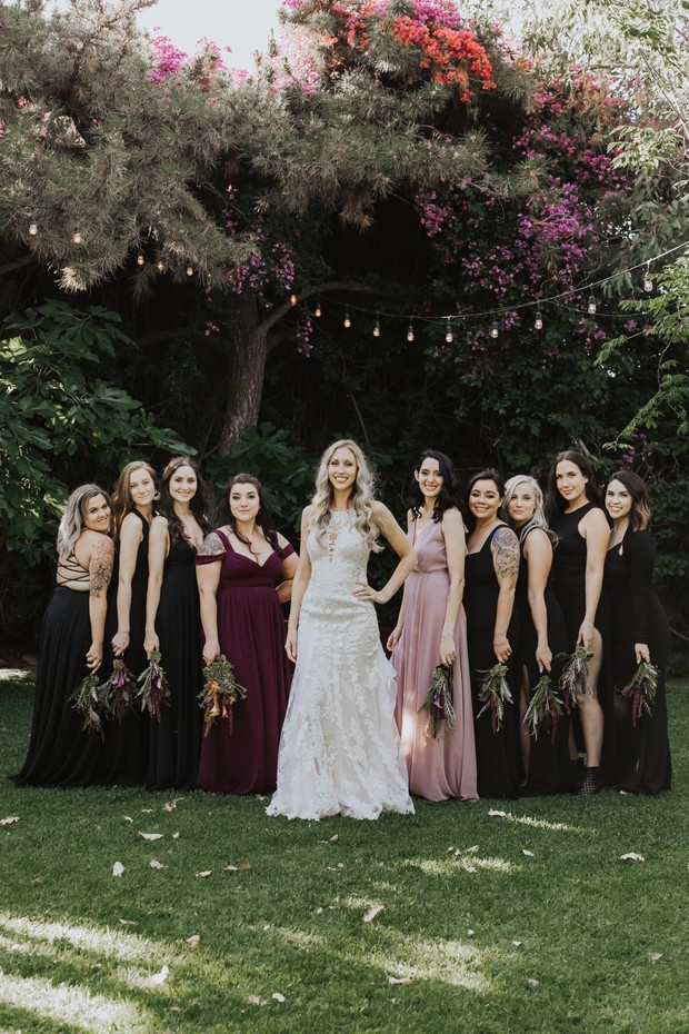 dark bridesmaid dresses