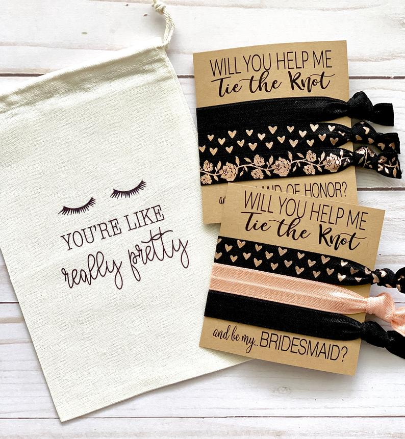 These are the perfect little addition to your Bridesmaid Proposals. Tuck a proposal favor inside and you're all set to ask your Girls