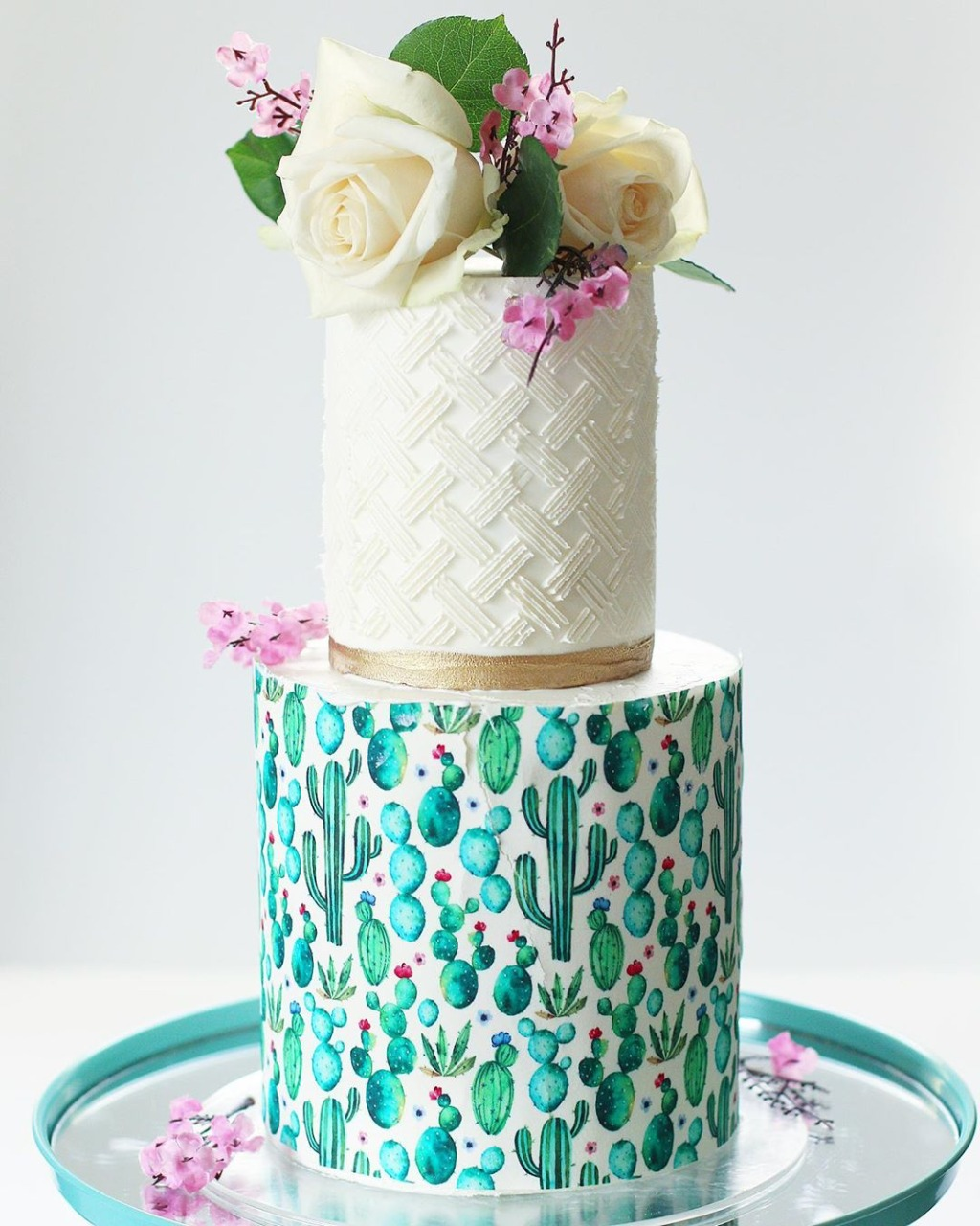 Succulent Wedding Cake by Christinas Cupcakes