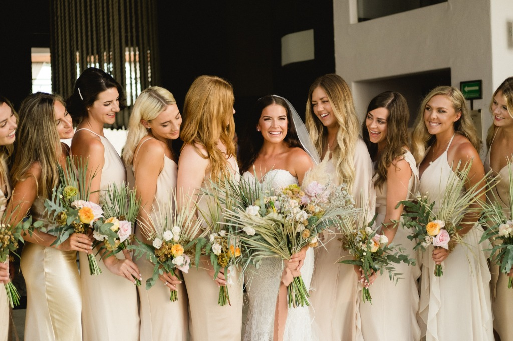 Boho and Bohemian look for this beautiful Brides and her bridesmaids.