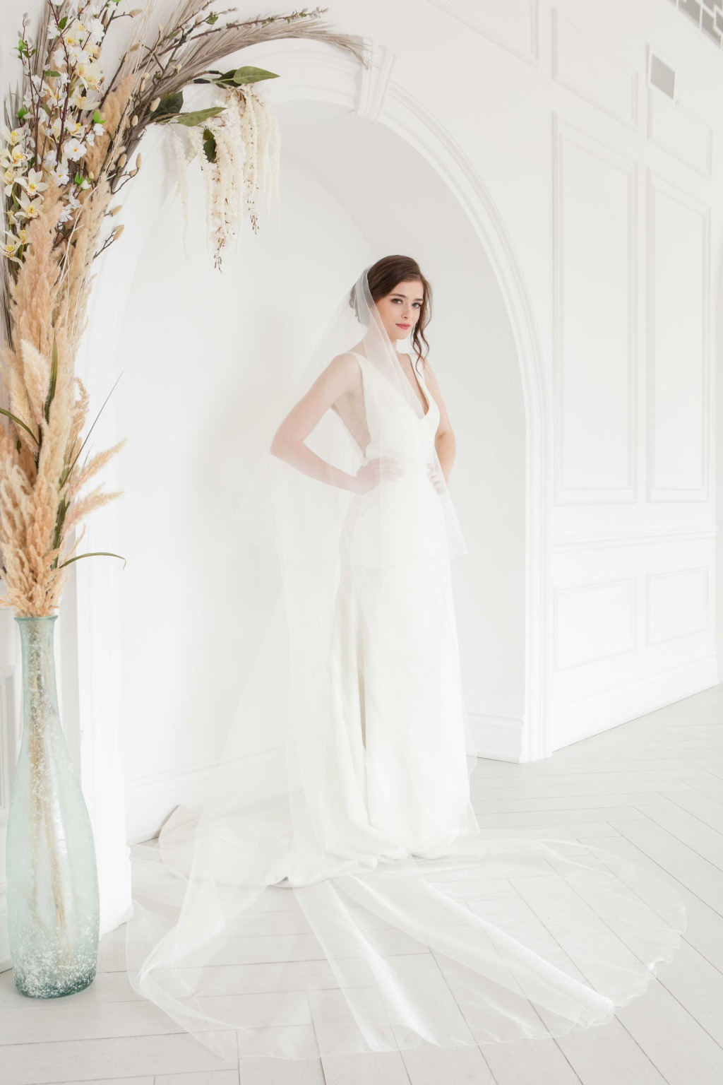 Forever Classic! Explore more gorgeous wedding veils from Laura Jayne!
