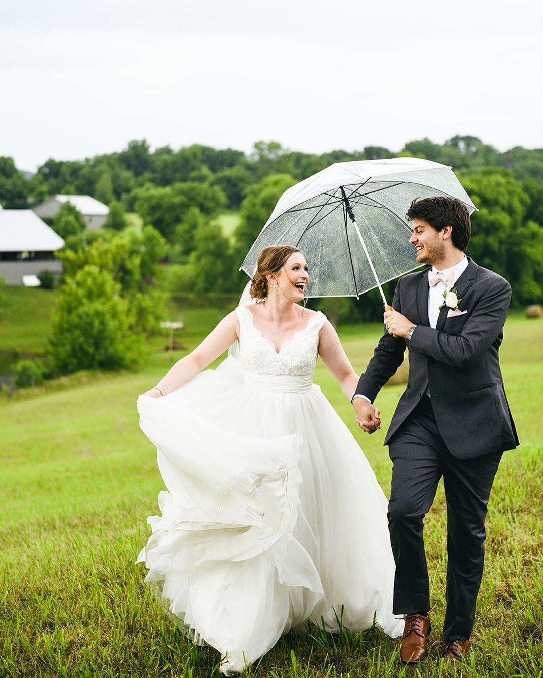 """""""Rain is a good thing"""" 🌧 ☔️ So much fun watching Cynthia & Josh love every single moment of their wedding day! This"""