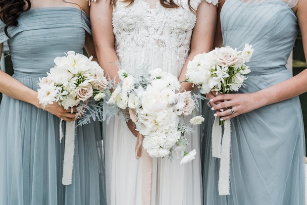 bridesmaid and wedding bouquets