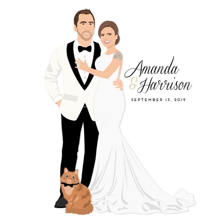 A question we get a lot is, how do you illustrate what we will look like BEFORE our wedding day?! With magic, of course! Kidding..