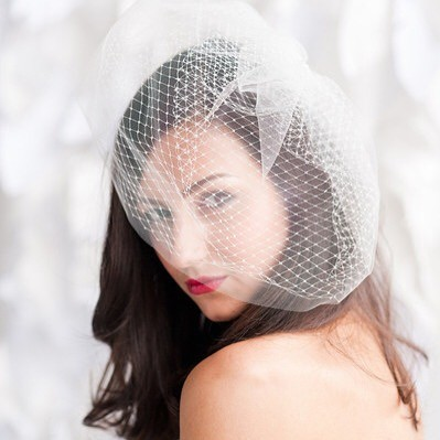 All of our birdcage veils are now ready to ship in our online store and etsy shop!