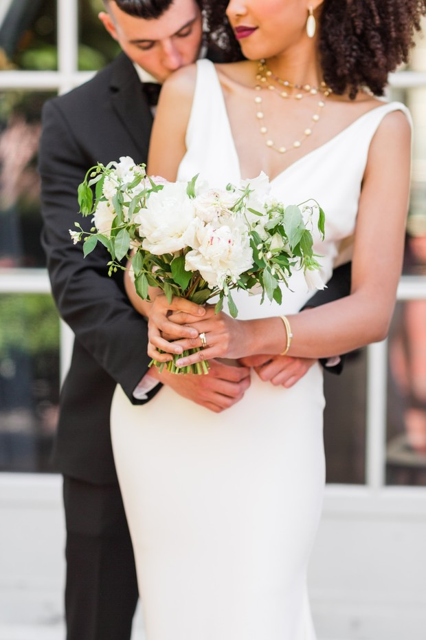 A Black And White Chic Wedding In New Jersey