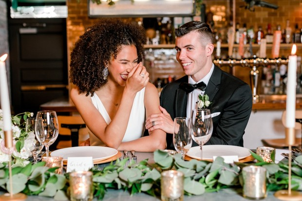 couple at their reception