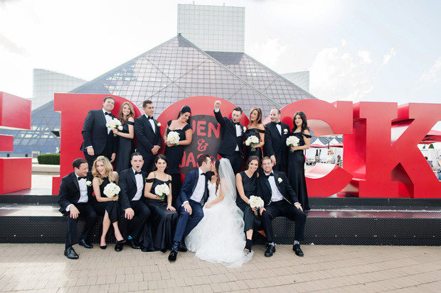 wedding at the Rock and Roll Hall of Fame