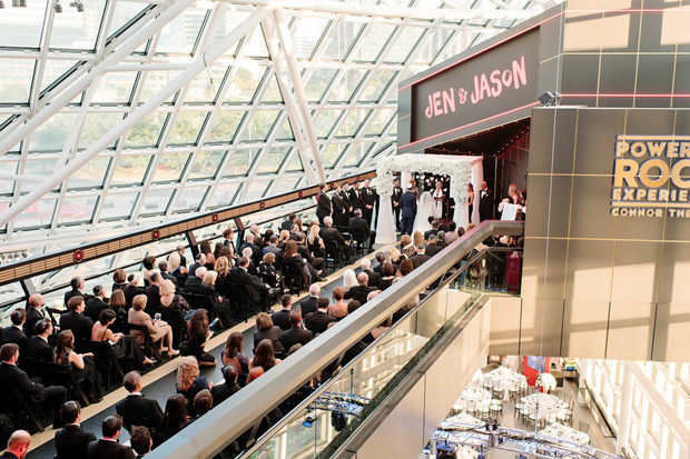 wedding ceremony at the Rock and Roll Hall of Fame