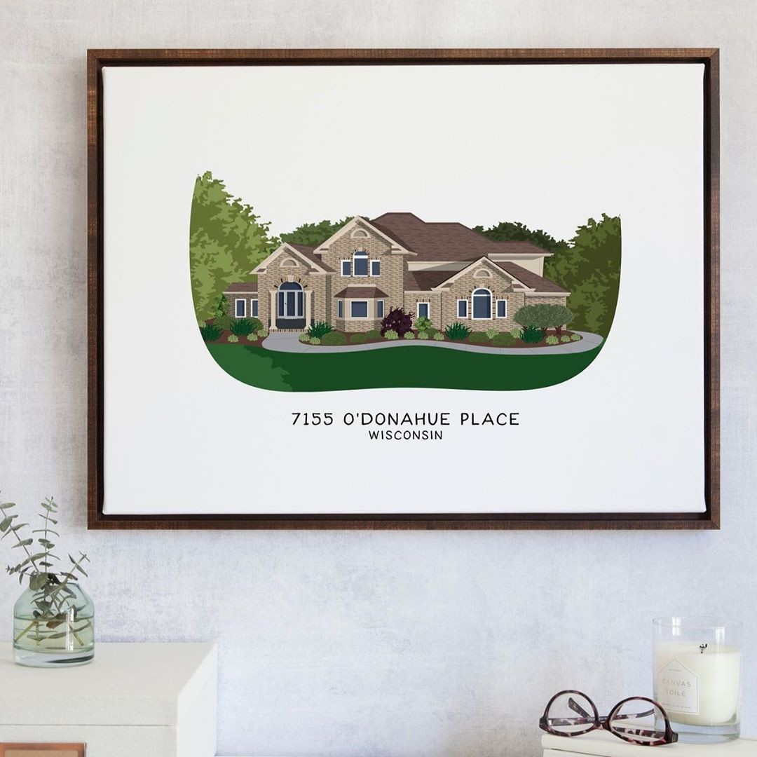 There's no place like home! 🏘️ Whether you're moving from your old home and want a reminder of that memorable place, or you're