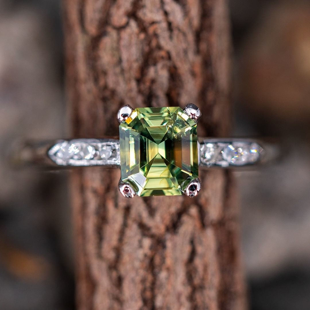 No Heat Icy Green Sapphire