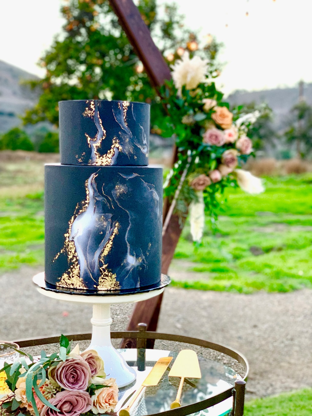 Truly a unique and breathtaking wedding cake design with a masculine touch, yet elegant.
