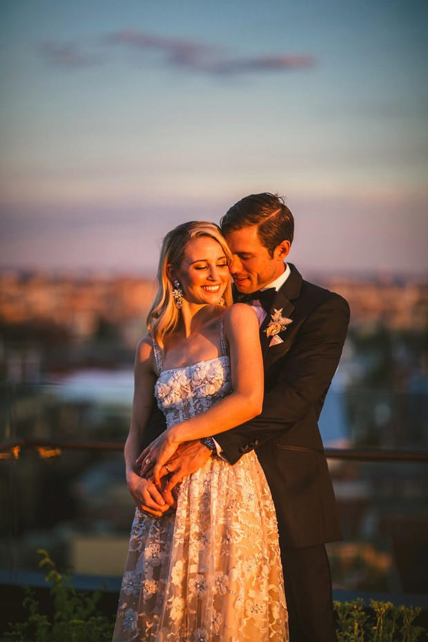 gold hour wedding photography