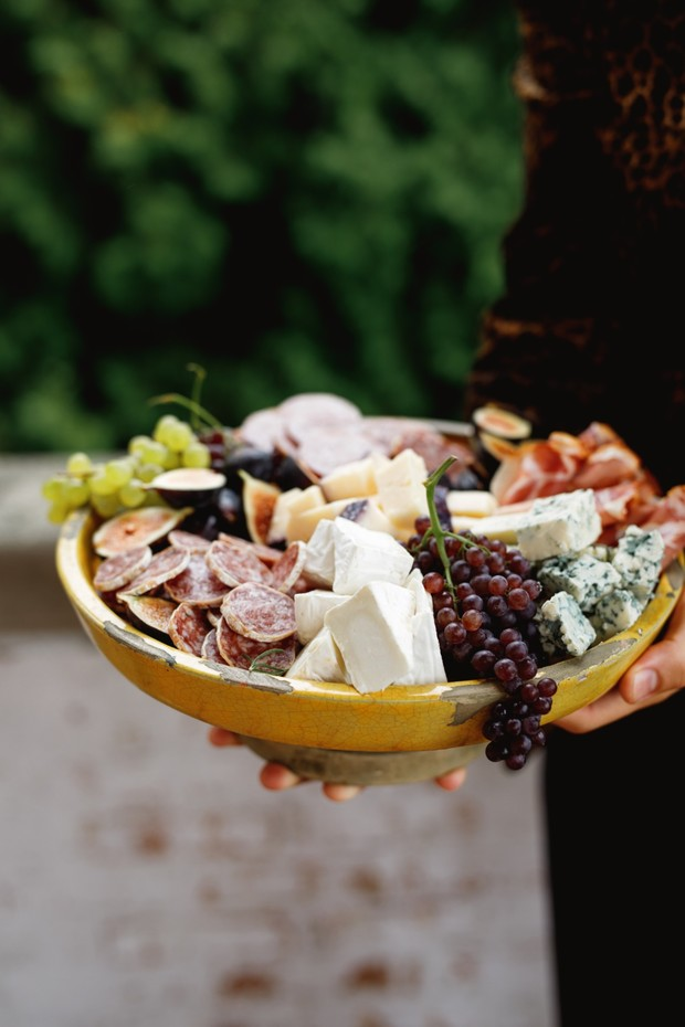 meat and cheese wedding food