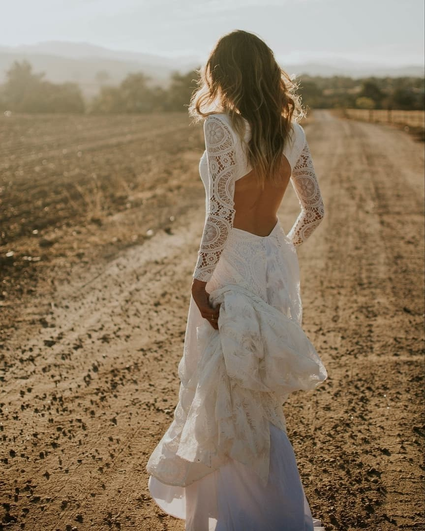 Sometimes you take the long road because it's more beautiful. This is our VEDA dress. There's no other wedding dress like it.