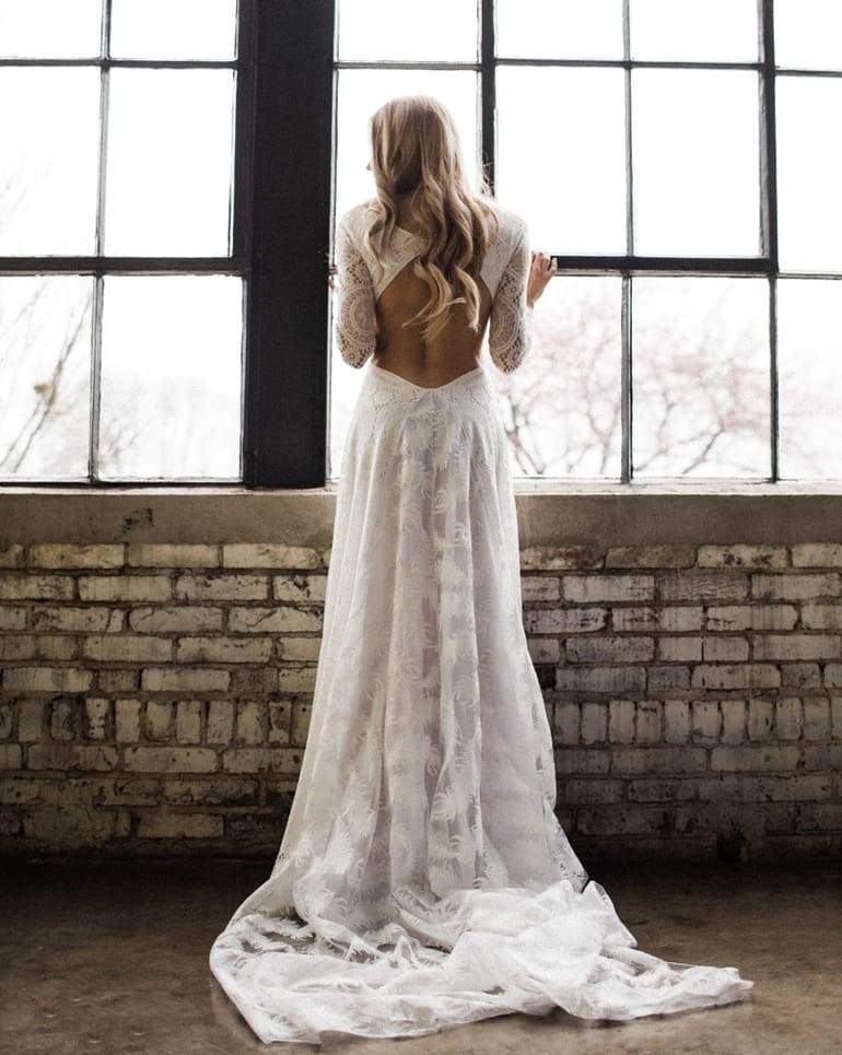 Moody bridal portraits are definitely a huge FAVE around here. This is our Veda Dress, captured by
