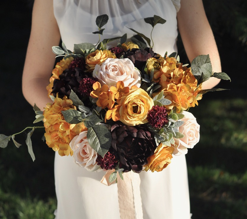 We would love to make your custom, faux wedding flower bouquet for your wedding day! We have more than 20 years of Professional Wedding