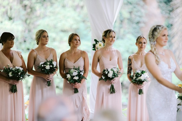bridesmaids at the ceremony