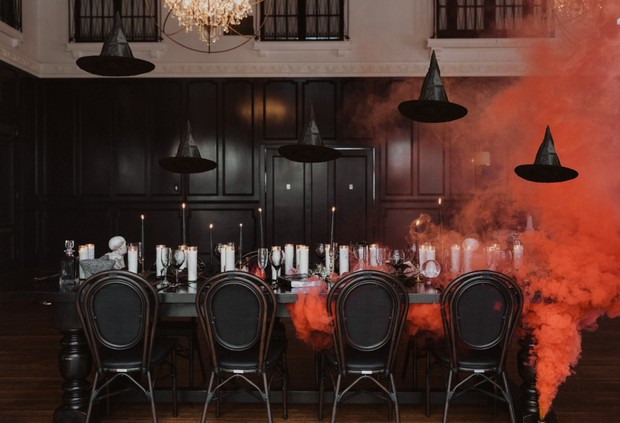 Halloween inspired wedding