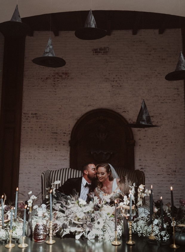 haunted sweetheart table wedding