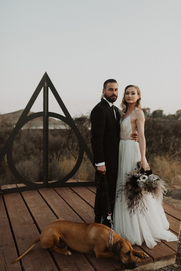 deathly hallows wedding backdrop