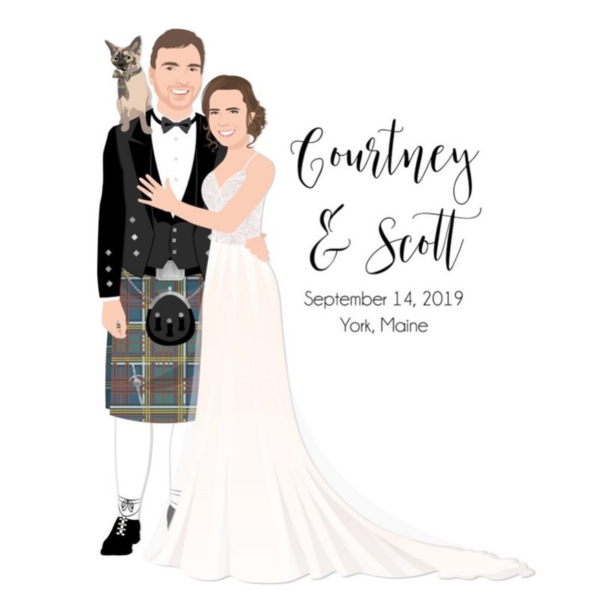 There's so much to love about our clients' custom designs, like how their personality just shines through! Courtney and Scott wanted