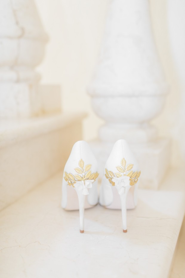 wedding heels with gold