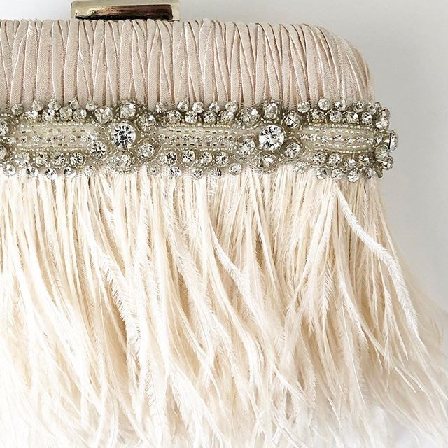 Sneak peek of a New 2020 collection! New blush Ostrich feather clutch design. In LOVE!!!