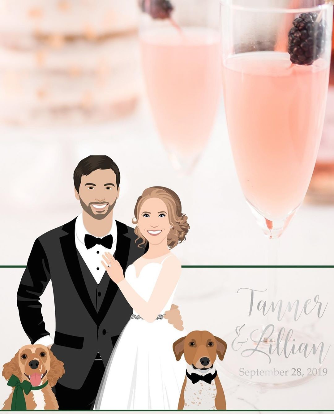 Tanner and Lillian are getting married today, and isn't this family just so lovely?? 🐾 It's no wonder they chose a custom Snapchat