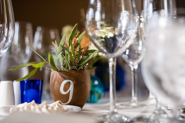 potted plant table number