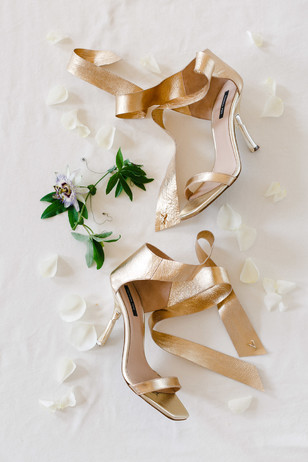 gold wedding heels