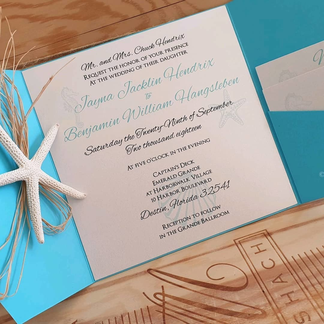 FRIDAY Samples Invitations for elegant #beachweddings