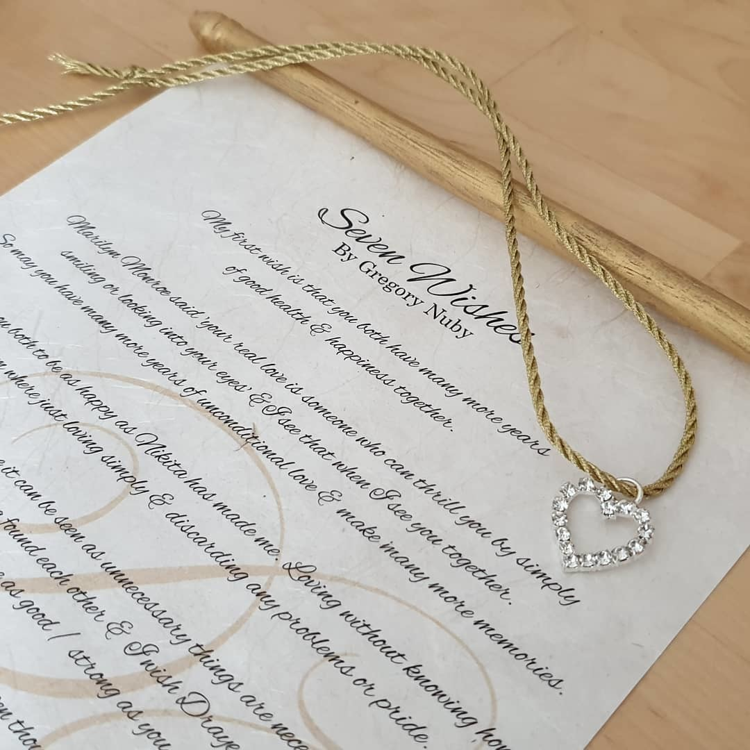 words with meaning... working on this beautiful scroll gift for the couple