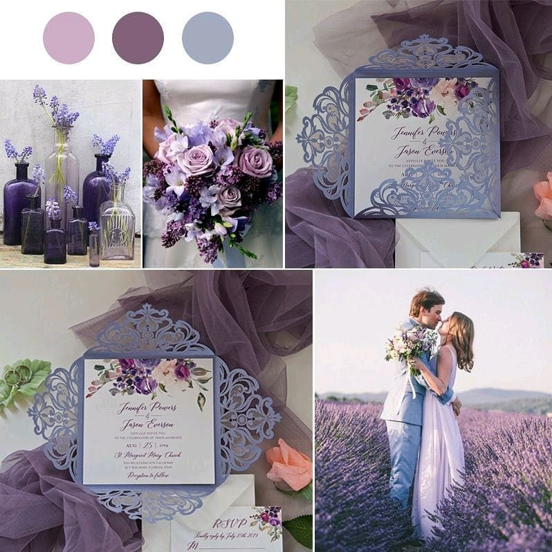 Purple, lavender and thistle shades.⠀