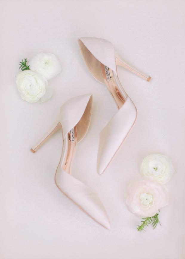 soft pink shoes