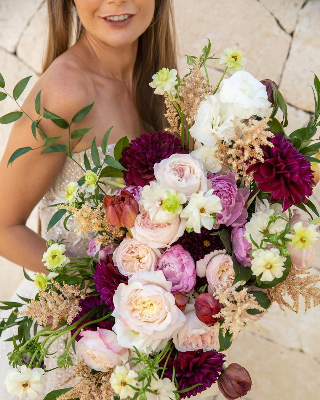 I have a love affair with big hair, and even bigger bouquets...