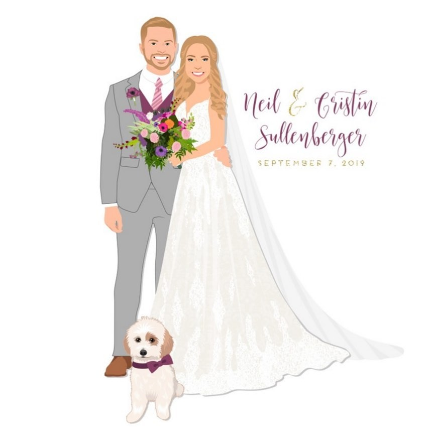These bright colors really pop in Neil and Cristin's custom design! 💜 We love a touch of color, and we're especially living for
