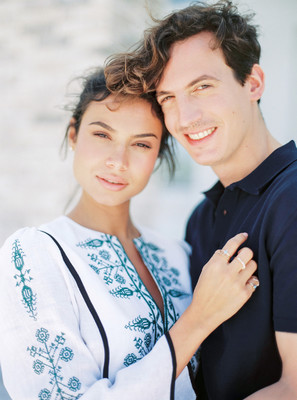 A Stylish Island Engagement Party in Greece