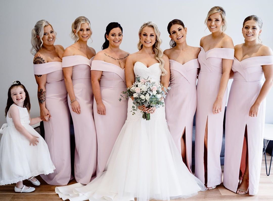 Real Runway // Cate's beautiful #bridesmaids in
