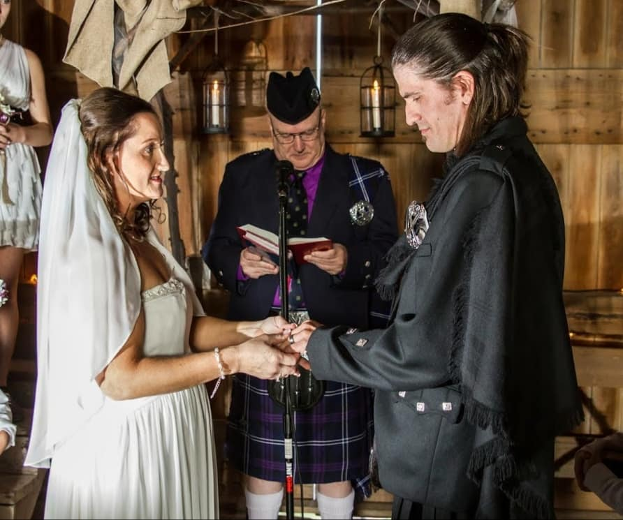 Celtic weddings are my favorite. Here I'm using the official ceremony of the Church of Scotland.