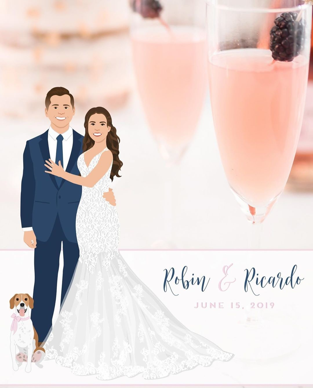 The modern couple deserves a modern wedding favor, don't you think? 💕⁠ This Snapchat filter is the perfect, fun way to interact
