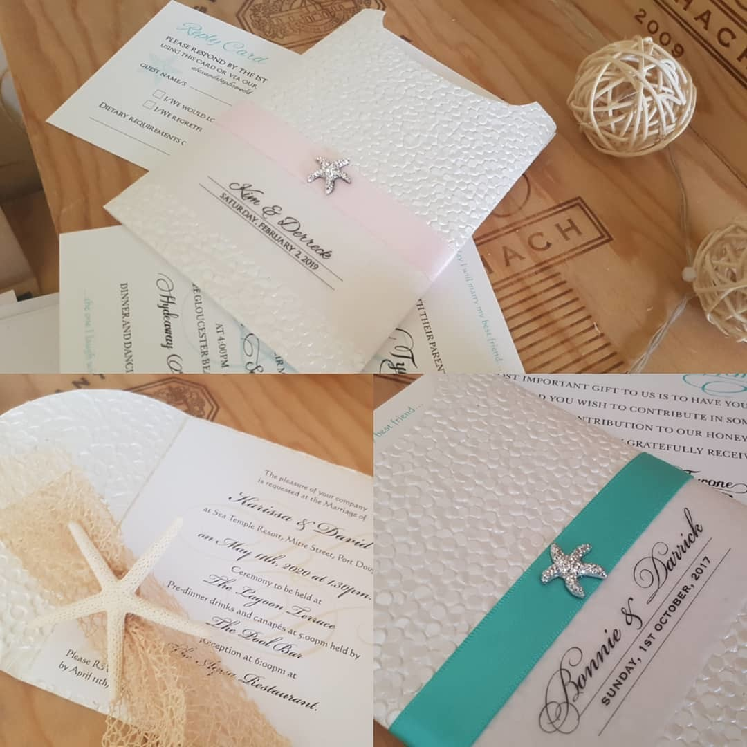 Friday 7am start: custom made samples: tiffany and blush beach theme, in today's mail to Sydney. 😍😍