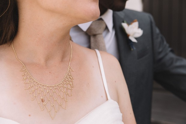 delicate wedding necklace