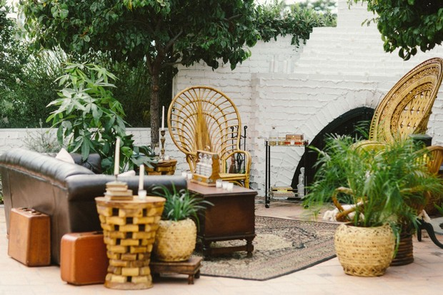 outdoor cuban inspired lounge