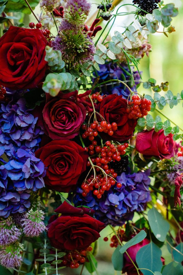 burgundy and royal blue wedding flowers