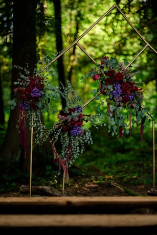 outdoor wedding backdrop