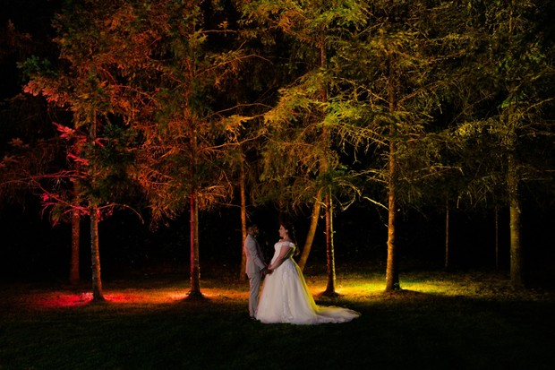 dramatic lighting wedding photo