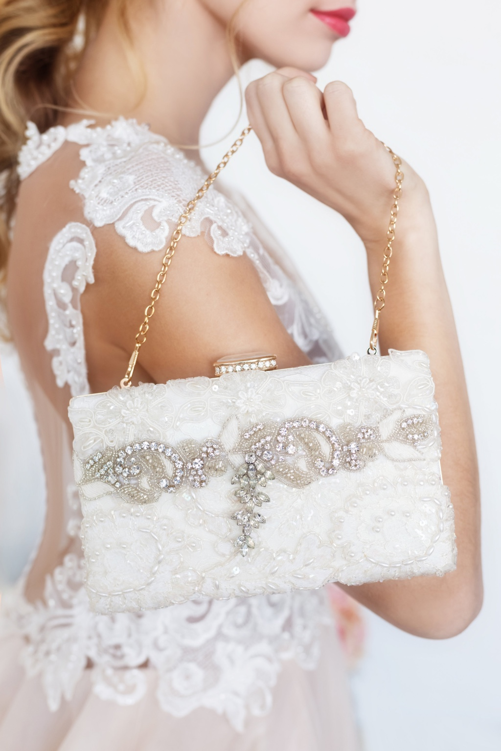 Walk into your wedding with a gorgeous one of a kind bridal clutch