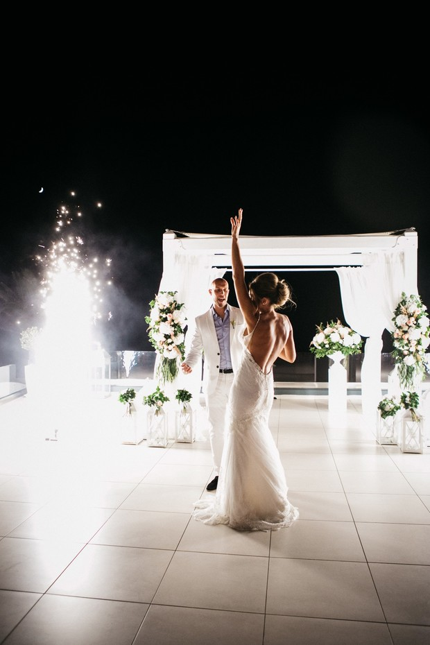 wedding dance with sparklers