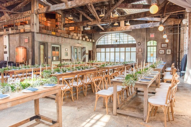 industrial chic wedding venue space
